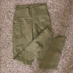 ARMY GREEN BUFFBUNNY LEGGINGS WITH POCKETS